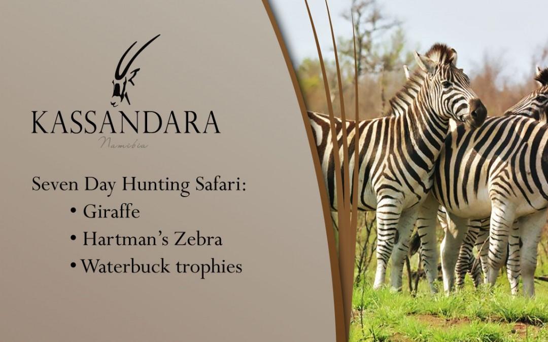 Kassandara Hunting Package 2015: Giraffe, Hartman's Zebra and Waterbuck